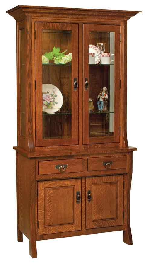 Amish Custer China Cabinet